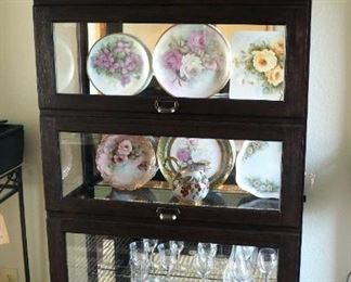 """Solid Wood, Lighted Curio Cabinet With 4 Glass Shelves, Sliding Front Door, Includes Key Contents Not Included 80"""" X 39"""" X 15.5"""""""