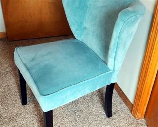 """Contemporary Microfiber Chair With Wing Back, 33"""" x 24"""""""
