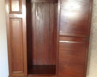 Master Bedroom: The wardrobe door is now open to reveal the hanging bar for clothing.