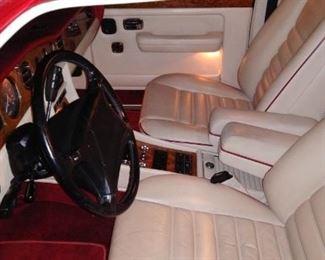 Bentley interior shot of front seats