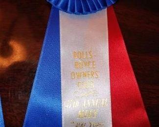 Bentley Williamsburg Show award ribbon