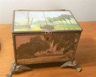 lovely glass box brass feet