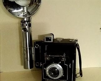 Antique Camera with Flash
