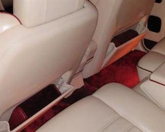 Bentley interior back seats