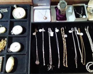 Men's pocket watches  - necklaces etc