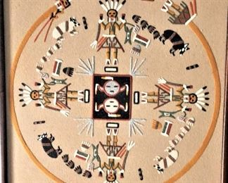 """Navajo Sand Painting """"Home of the Bears"""""""