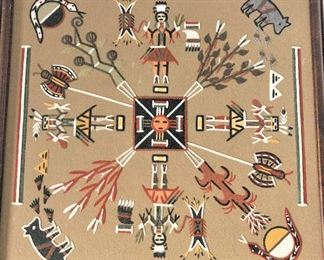 Navajo sand painting Home of the Bear and the snakes