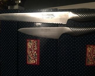 """Global"" serrated and pairing knives"