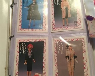 Album full of over 300 Barbie collectors cards