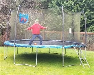 Full size trampoline and owners manual. In great shape!
