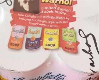 Collector Andy Warhol Campbell's soup four pack, unopened. We have two.