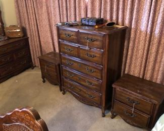 Chest of drawers and night stands