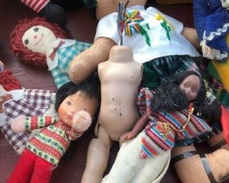 Various dolls of all shapes and sizes...