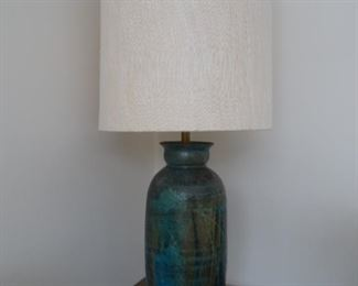 One of three  Mid Century Ceramic table lamps.