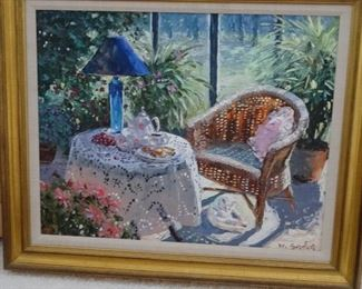 "Original oil painting by Henry Gordon. ""Sunroom"""