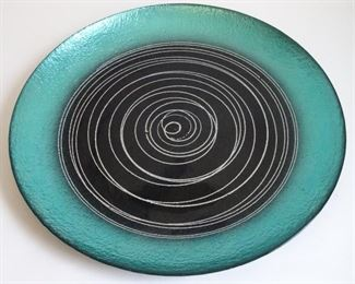 Art glass platter
