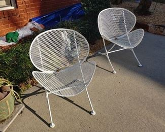 Beautiful mid-century modern wrought iron chairs