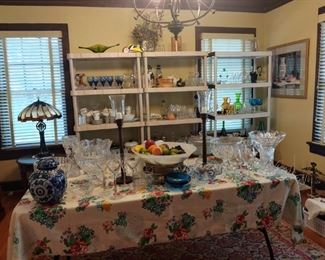 Tons of beautiful glassware and collectibles