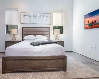 Bed frame + Mattress + Two Bed End Tables