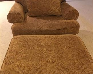 Bernardt Club Chair and Ottoman