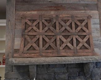 Antique Wooden Shutter, large scale