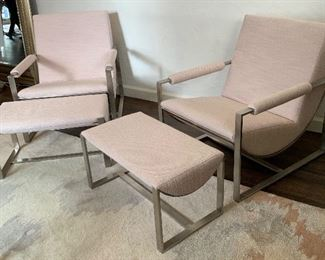 Two  West Elm Bower Lounge Chairs