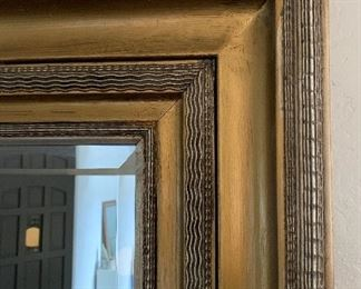 Oversized Gold Frame Entryway Mirror86x62x4inHxWxD