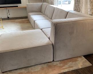 Pottery Barn Riley Super Sectional Sofa/Couch Contemporary  27x127x32in HxWxD