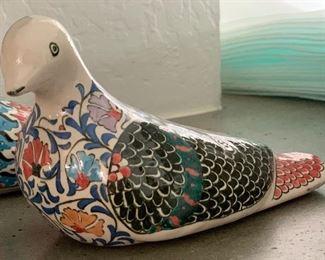 Turkish Ceramic Pigeon Selcuk Cini #1