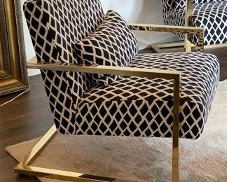 Skyline Modern Accent Chair Gold Chrome #1