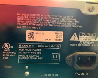 Sony ES HAP-Z1ES Media Streamer HDD Audio Player