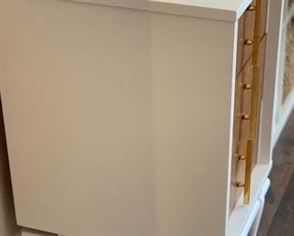 Kent-Coffey Sequence white vintage 3-drawer nightstand30x18x20inHxWxD