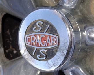 VINTAGE S/S CRAGAR CHOME MUSCLE CAR WHEELS