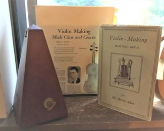 Metronome and Violin making books
