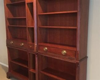 Double bookcase wall unit by Milling Road a division of Baker Furniture