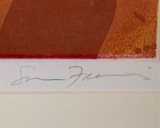 Abstract art by artist Sam Francis . Signed and numbered 13/45