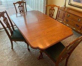 Another view of the dining room table