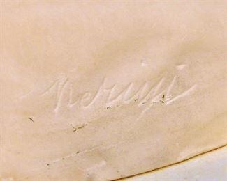Signature on marble bust