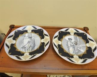 Royal Vienna transfer and hand painted decorative platters