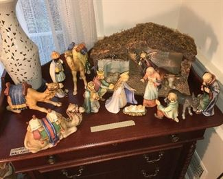 Ca. 1951 Goebel Hummel Nativity Set.
