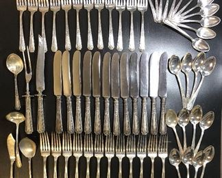 Over 18lbs of marked Antique Sterling flatware