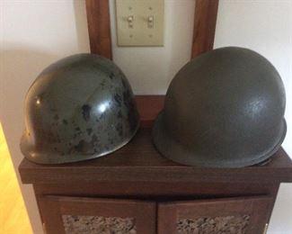 Possible Korean War American helmets