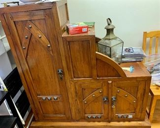 Step chest / cabinet -- different design than usually seen