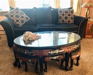 Asian table & hidden stools