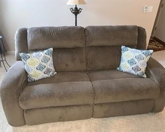Art Van electric reclining sofa