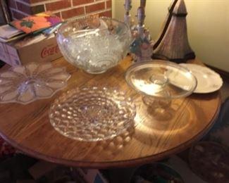 Beautiful punch bowl and Fostoria American