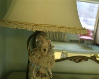 Dresden style china  lamp