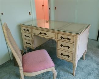 country french desk and chair(part  of  set)
