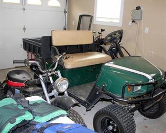 EZ-GO ST Gas Powered Utility Cart with Dump Box