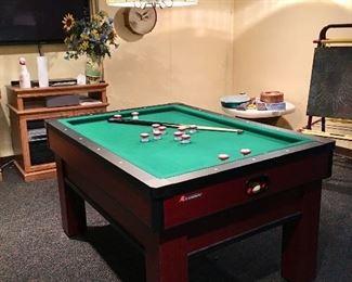 Classic Bumper Pool Table, Flat Screen TV